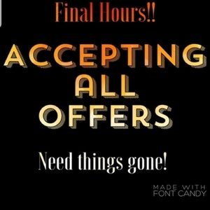MAKE YOUR BEST OFFER NOW!!!!